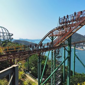 Аттракцион Mine Train в зоне The Summit, Ocean Park, Гонконг